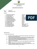 Minit Mesyuarat Jawatankuasa Kurikulum Kali 3 2017