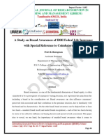 A Study on Brand Awareness of IDBI Fedral Life Insurance with Special Reference to Coimbatore Region
