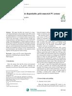 La Investigación Sobre Los Sistemas Fotovoltaicos Conectados a La Red Despachables a Gran Escala
