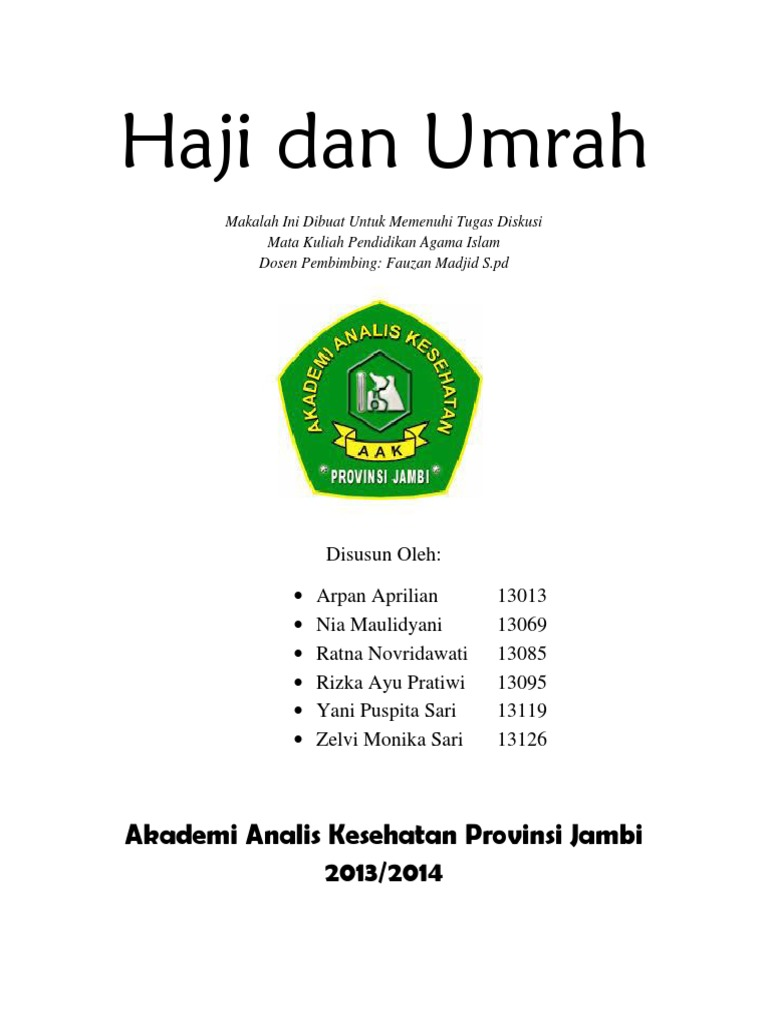 Makalah Haji Dan Umrah Docx