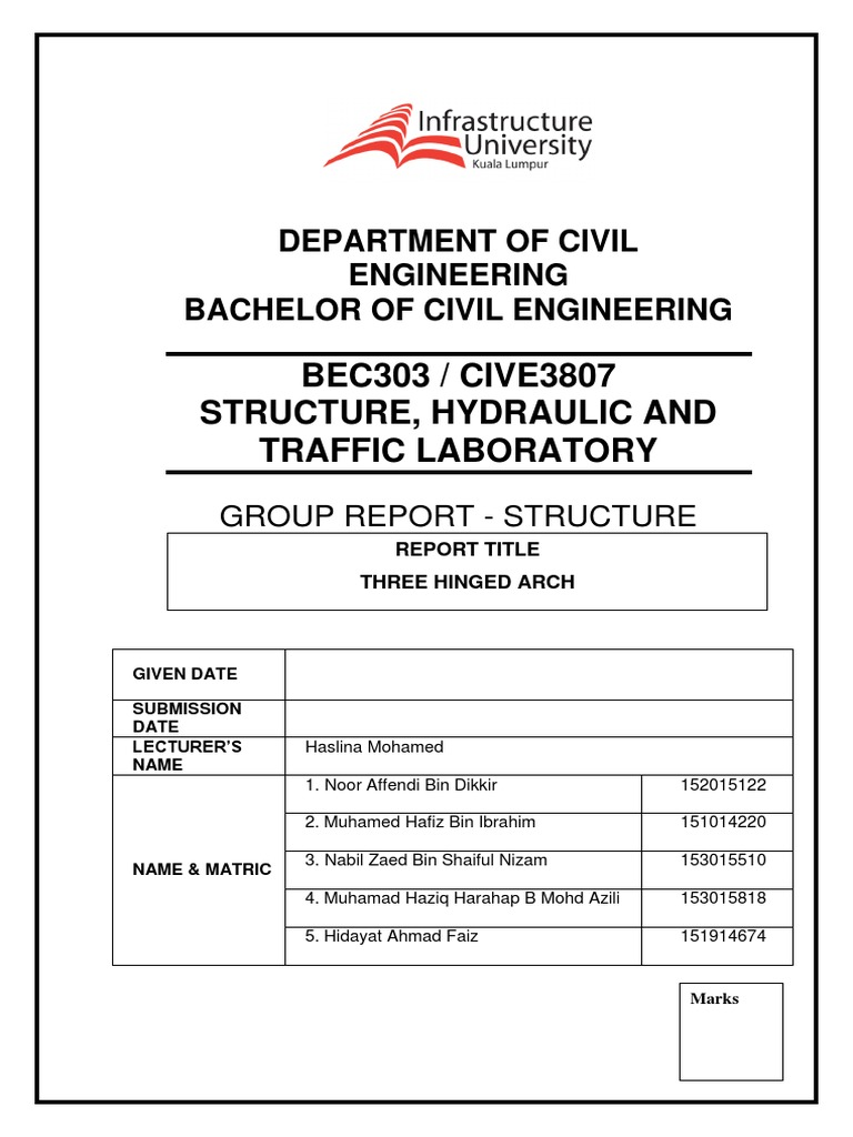 how to structure a lab report