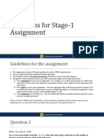 Stage 1 Assignment