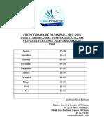 Cronograma Abordagem 2 Pério e Cirurgia 2012-2013