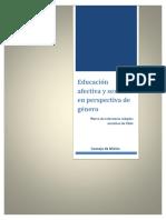 Educación afectiva y sexual en perspectiva de género