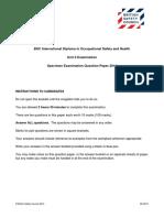 Bsc Idip Unit2 Specimen Paper 2014