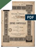Entree Pontificale Partitura Completa