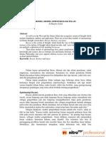 Model Model Epistemologi Islam