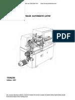 SparePartsForTraubAutomaticLatheTD26-36