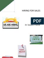 Sales Force Hiring F