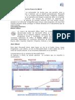 Características de La Ventana de Microsoft Word
