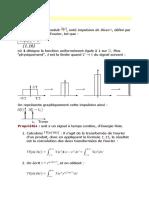 1impulsion de Dirac