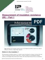 Measurement of insulation resistance (IR) - Part 1 _ EEP.pdf