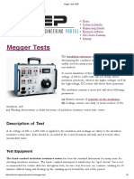 Megger Tests _ EEP