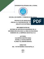 Proyecto de Graduacion Implementacion de SGSI