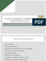 prospective student presentation