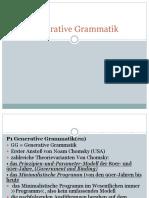 Generative Grammatik VORLESUNG