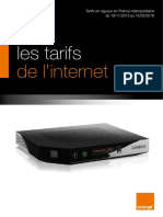 Tarifs Orange Internet  Novembre 2015