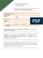 Registro Incidentes SAP