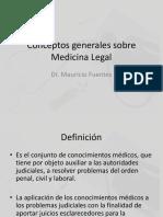 Clase 1 - Conceptos Generales Sobre Medicina Legal