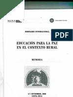 10.Análisis crítico del curriculum como marco de referencia para una educación rural