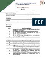 Criterios de Evaluación 2