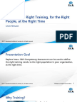 Right training for the right people