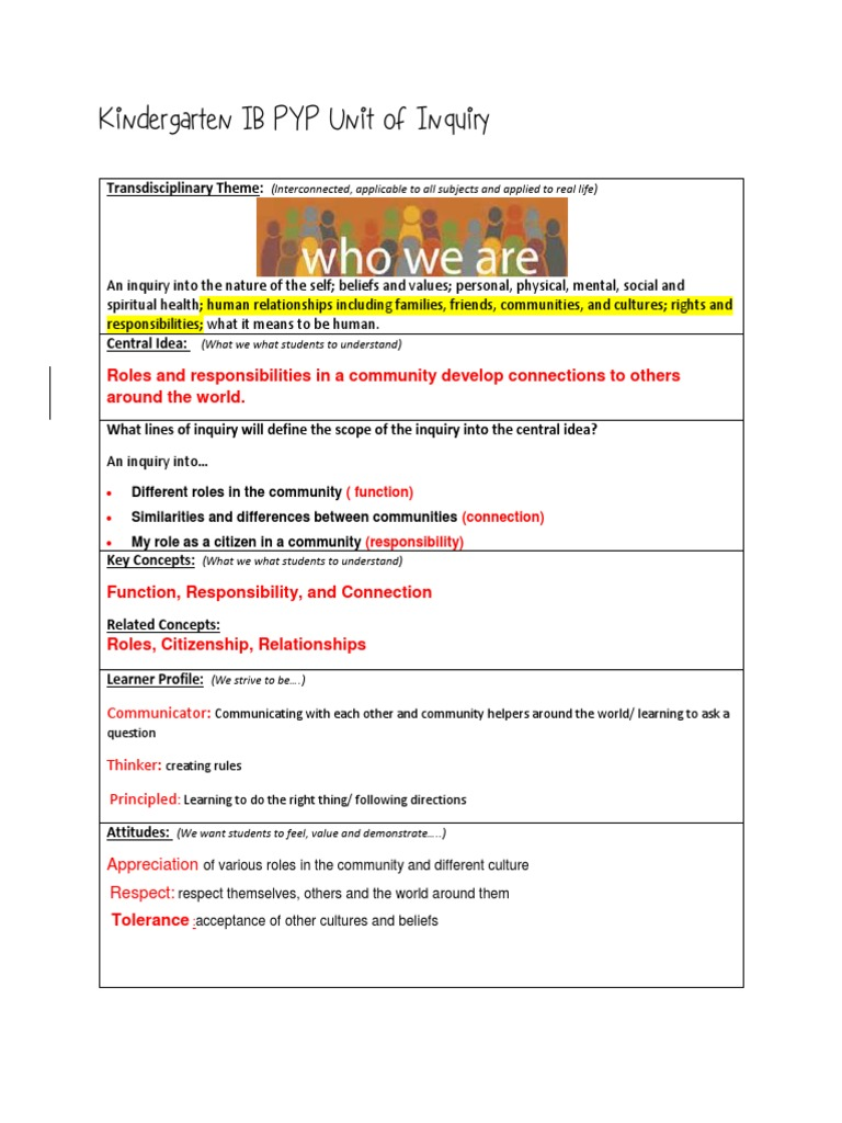 ib pyp unit of inquiry weebly template unit 1