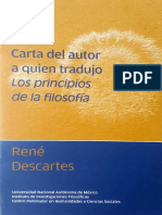 Descartes. Carta al autor quien tradujo los Principios de la filosofía