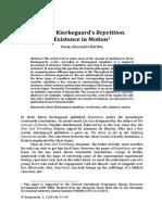 Søren Kierkegaard's Repetition - Existence in Motion