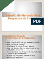Estudio de Mercado Para Proyectos de Inversion Unidad II A