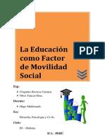 Educacion Como Factor de Movilidad Social