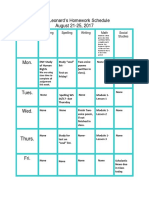weebly homework template
