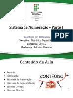 Aula 02 - Sistemas de Numeração - Parte I