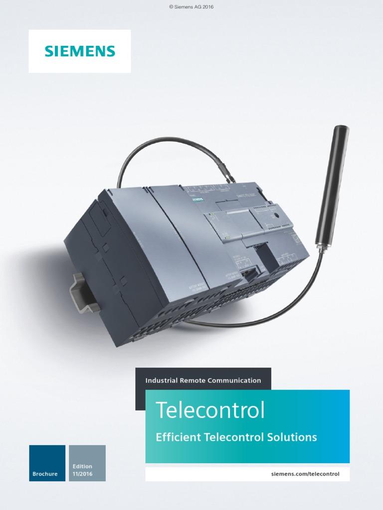 SIE Brochure Telecontrol En | Computer Network | Scada