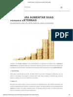 Vendas Externas - 5 Dicas Para Aumentar o Faturamento