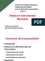 Ondas en Instrumentos Musicales