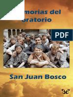 Bosco, San Juan - Memorias Del Oratorio (r1.0 Jecanre)