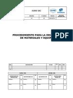 UTUNSA-SGC-MEC-001 Procedimiento para la  Inspección de Materiales y Equipos.doc