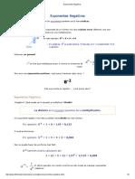 2.2.- Exponentes - Exponentes Negativos