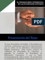 El Desequilibrio Patrimonial 2016(2) - Derecho Comercial II (Sociedades i)