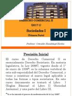 Derecho Comercial II-2017-1 (Primera Parte) - Derecho Comercial II (Sociedades i)