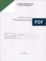 Planilla de Evaluación Practicas Clinicas III