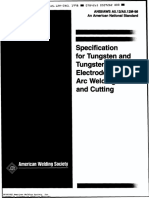 AWS A5.12-A5.12M Specification for Tungsten and Tungsten Electrodes for Arc Welding and Cutting Ed. 1998