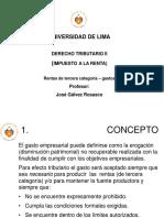 DERECHO TRIBUTARIO II - Renta 3° - gastos