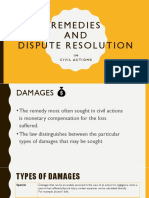 remedies and dispute resolution