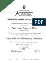 Esp. Informatica y Telematica