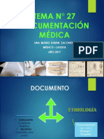 TEMA 27 DOCUMENTACIÓN MEDICA  2017.ppt