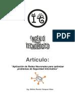 Articulo Cientifico - Aplicacion de Redes Neuronales para optimizar problemas de Seguridad Informatica (1).pdf
