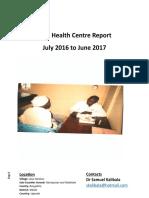 Toth Health Centre Report Jul 2016 to June 2017