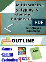 Genetic Disorders , Karyotyping & Genetic Engineering_G10